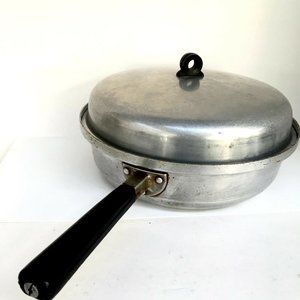 Vintage Regal Aluminum Frying Pan with Lid
